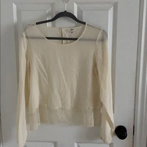 Wilfred 100% silk top with lace